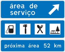 I4B - Aproximação de via de saída para a área de serviço