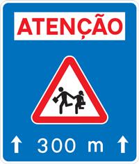 I8 - Pré-sinalização de travessia de crianças