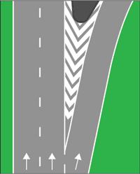 M17A - Raia oblíqua delimitada por uma linha contínua