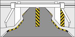 M18 - Listras alternadas de cores amarelo e preta
